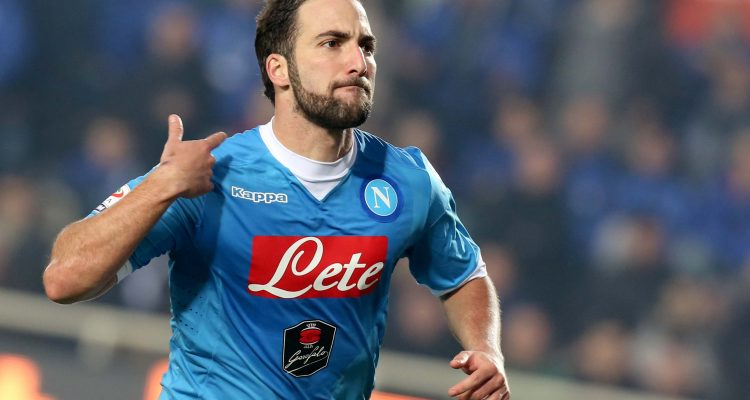 Higuain, is said to still be running victory laps in a similar pose having learned how much he's worth.